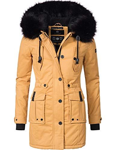 419OV6QE EL - Navahoo Damen Winter Mantel Baumwoll Parka Luluna Camel Gr. S