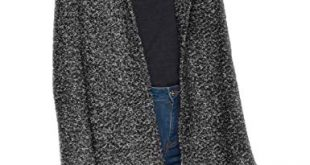 ONLY Damen onlSEDONA Boucle Wool Coat OTW NOOS Mantel Grau 310x165 - ONLY Damen onlSEDONA Boucle Wool Coat OTW NOOS Mantel, Grau (Dark Grey Melange Detail:Melange), 38 (Herstellergröße: M)
