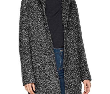 ONLY Damen onlSEDONA Boucle Wool Coat OTW NOOS Mantel Grau 385x330 - ONLY Damen onlSEDONA Boucle Wool Coat OTW NOOS Mantel, Grau (Dark Grey Melange Detail:Melange), 38 (Herstellergröße: M)