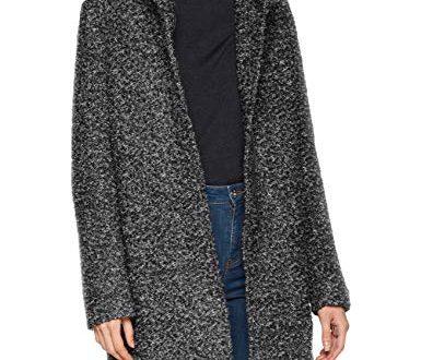 ONLY Damen onlSEDONA Boucle Wool Coat OTW NOOS Mantel, Grau (Dark Grey Melange Detail:Melange), 38 (Herstellergröße: M)