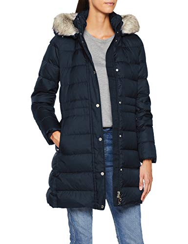 Tommy Hilfiger Damen New TYRA DOWN Coat Mantel, Blau (Sky Captain Cjm), Small (Herstellergröße:S)