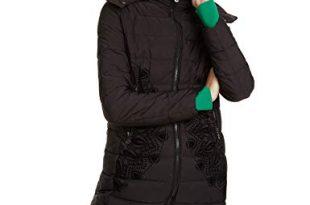 Desigual Damen Coat Mandala Mantel, Schwarz (Negro 2000), (Herstellergröße: 46)