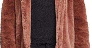 Urban Classics Ladies Hooded Teddy Coat, Farbe darkrose, Größe XXL